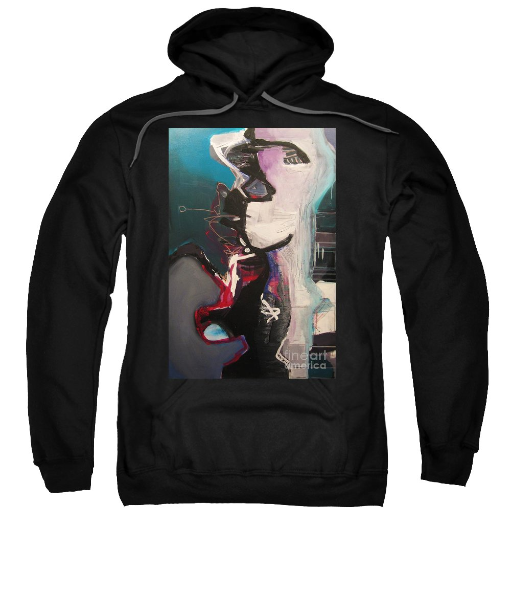 Abstract Art Paintings Sweatshirt featuring the painting Nagging Voice by Seon-Jeong Kim