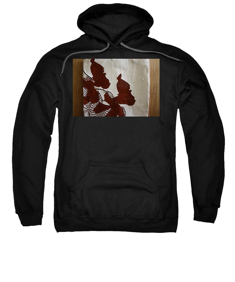 Jesus Sweatshirt featuring the ceramic art Nakato And Babirye - Twins 2 - Tile by Gloria Ssali
