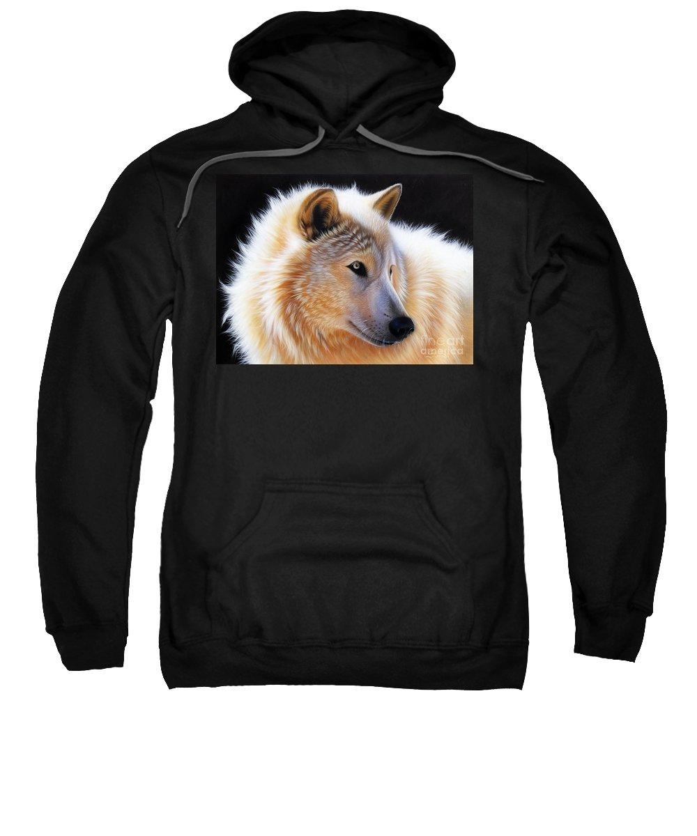 Acrylic Sweatshirt featuring the painting Nala by Sandi Baker