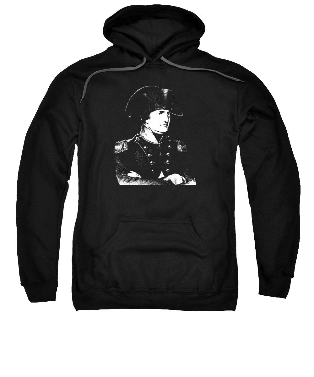 Napoleon Sweatshirt featuring the digital art Napoleon Bonaparte by War Is Hell Store