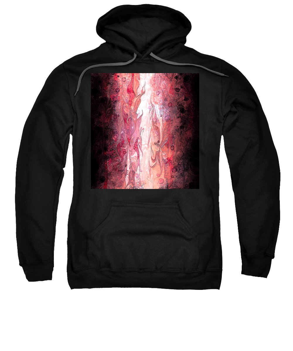 Abstract Sweatshirt featuring the digital art Narrow Passages by Rachel Christine Nowicki