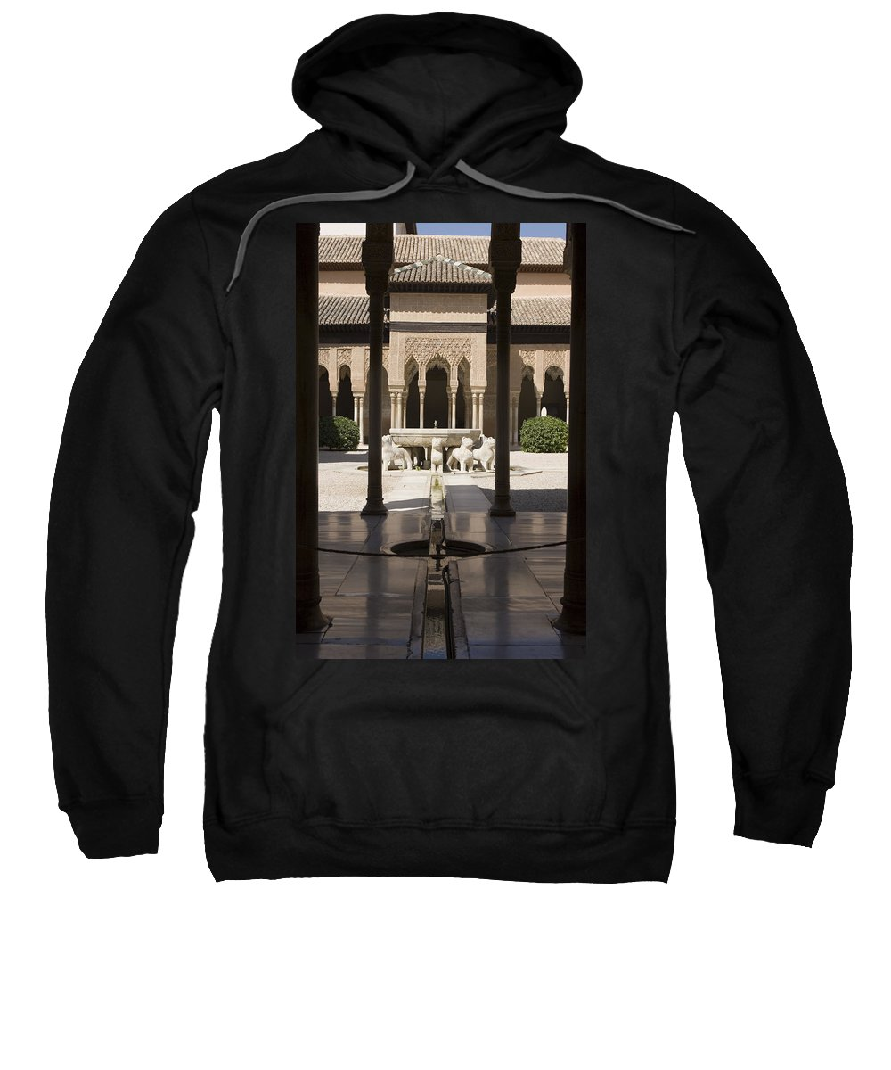 Alhambra Sweatshirt featuring the photograph Nasrid Palaces Alhambra Granada Spain Europe by Mal Bray
