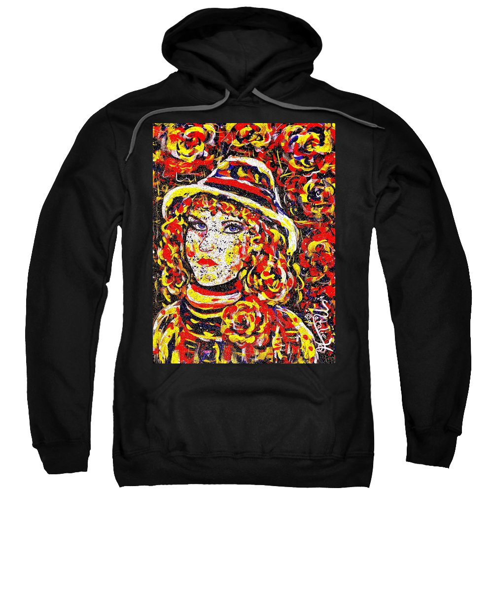 Woman Sweatshirt featuring the painting Nat With The Hat by Natalie Holland