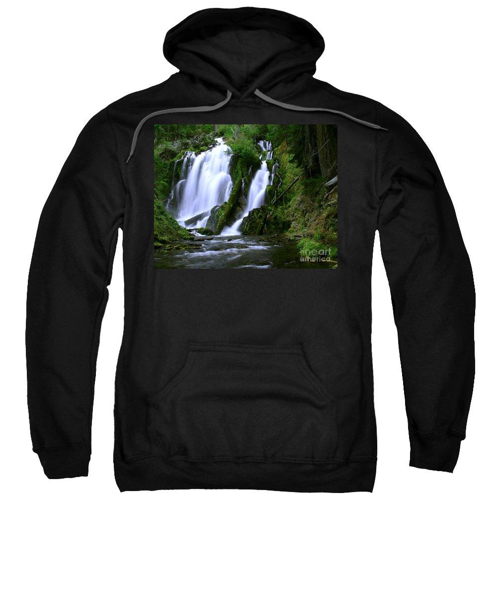 Waterfall Sweatshirt featuring the photograph National Creek Falls 02 by Peter Piatt