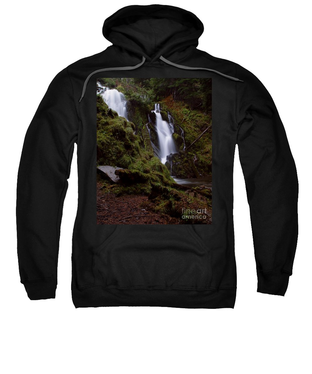 Waterfall Sweatshirt featuring the photograph National Creek Falls 04 by Peter Piatt