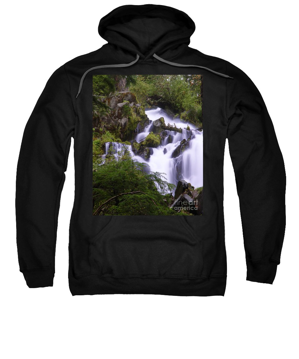 Waterfall Sweatshirt featuring the photograph National Creek Falls 05 by Peter Piatt