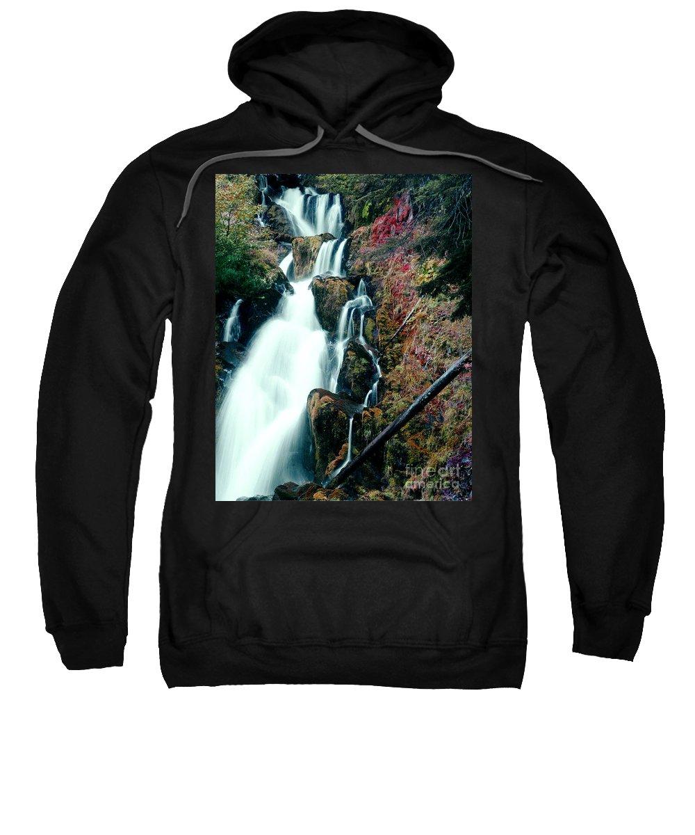 Waterfall Sweatshirt featuring the photograph National Creek Falls 07 by Peter Piatt