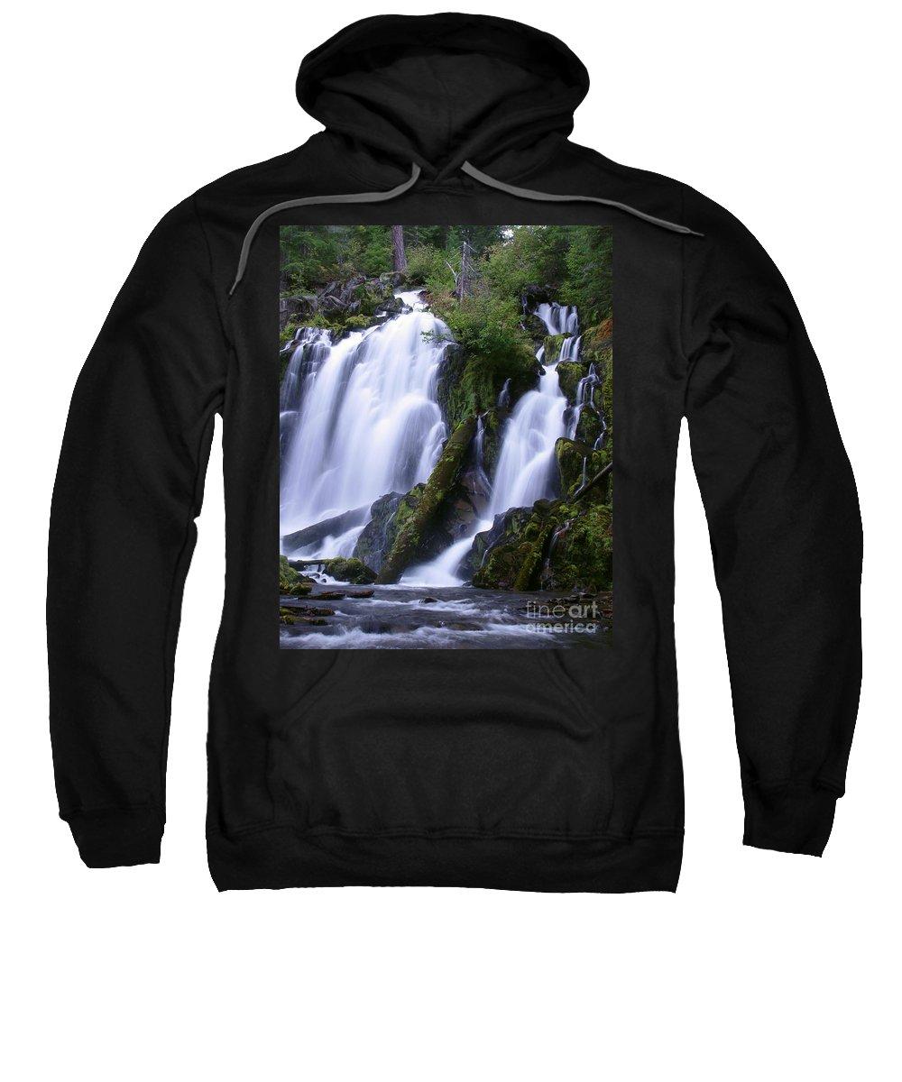 Waterfall Sweatshirt featuring the photograph National Creek Falls 09 by Peter Piatt