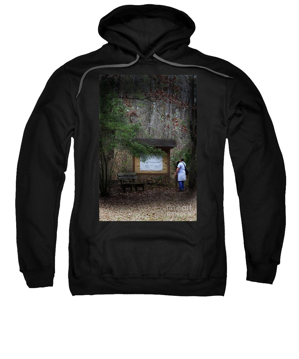 Stephen F. Austin Interpretive Trail Sweatshirt featuring the photograph Nature Walk by Kim Henderson