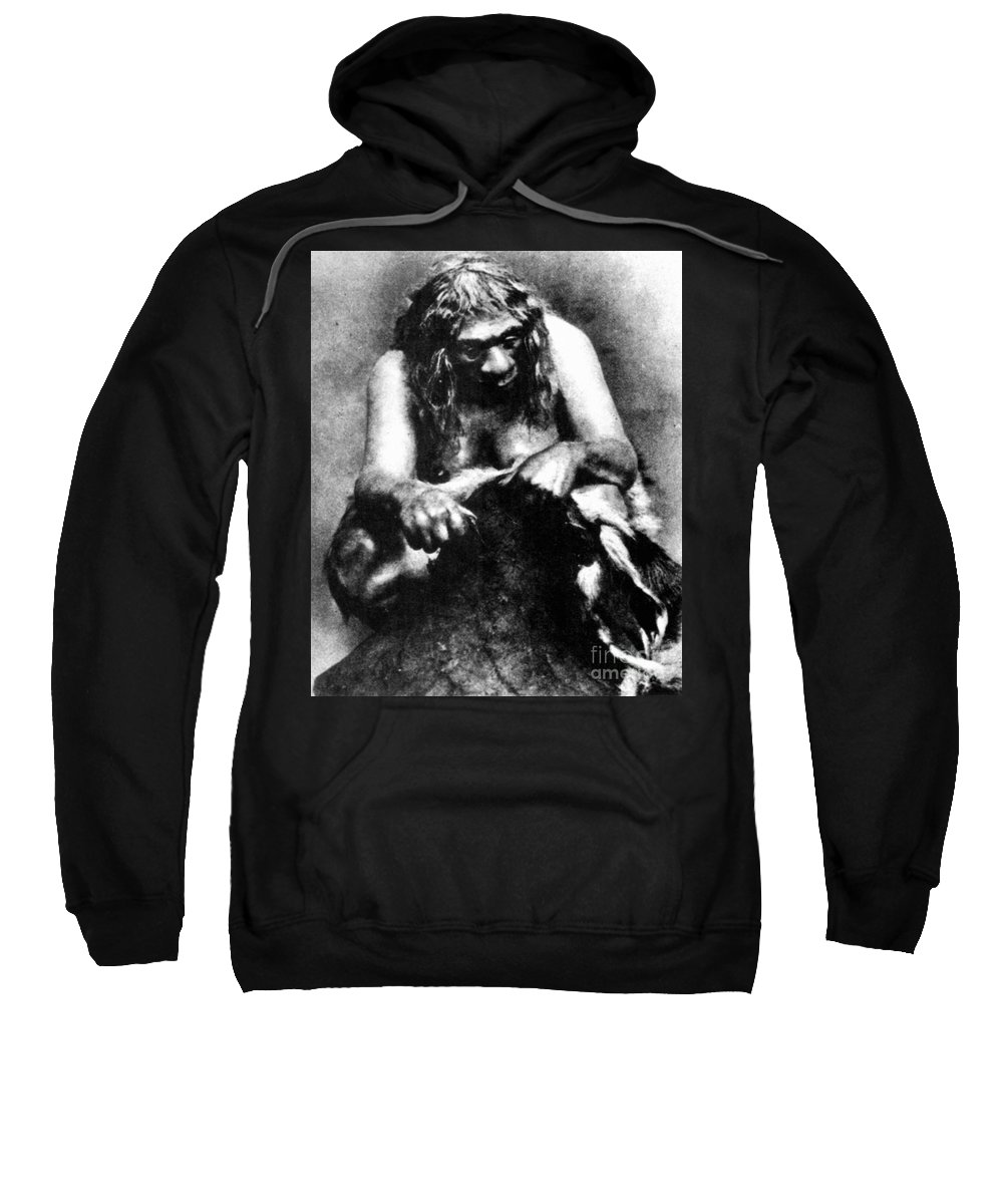1929 Sweatshirt featuring the photograph Neanderthal Woman by Granger