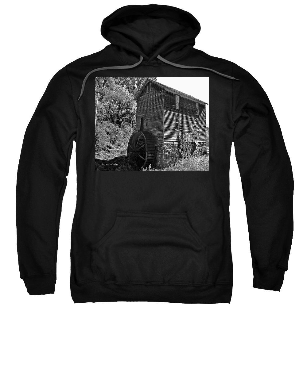 Mill Sweatshirt featuring the digital art Nearly Forgotten by DigiArt Diaries by Vicky B Fuller