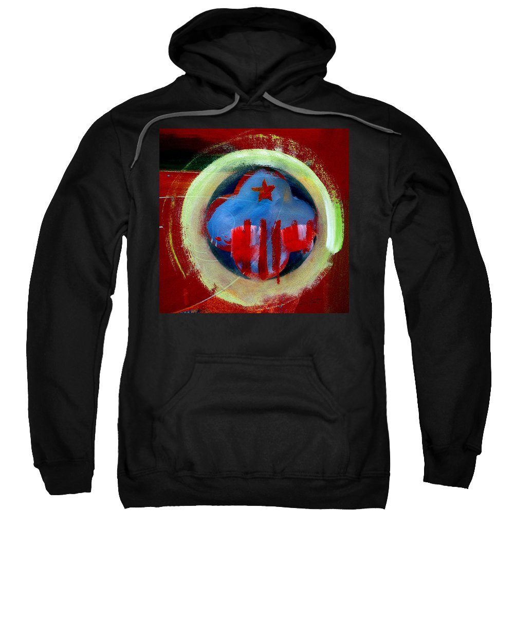 American State Sweatshirt featuring the painting Nebraska by Charles Stuart
