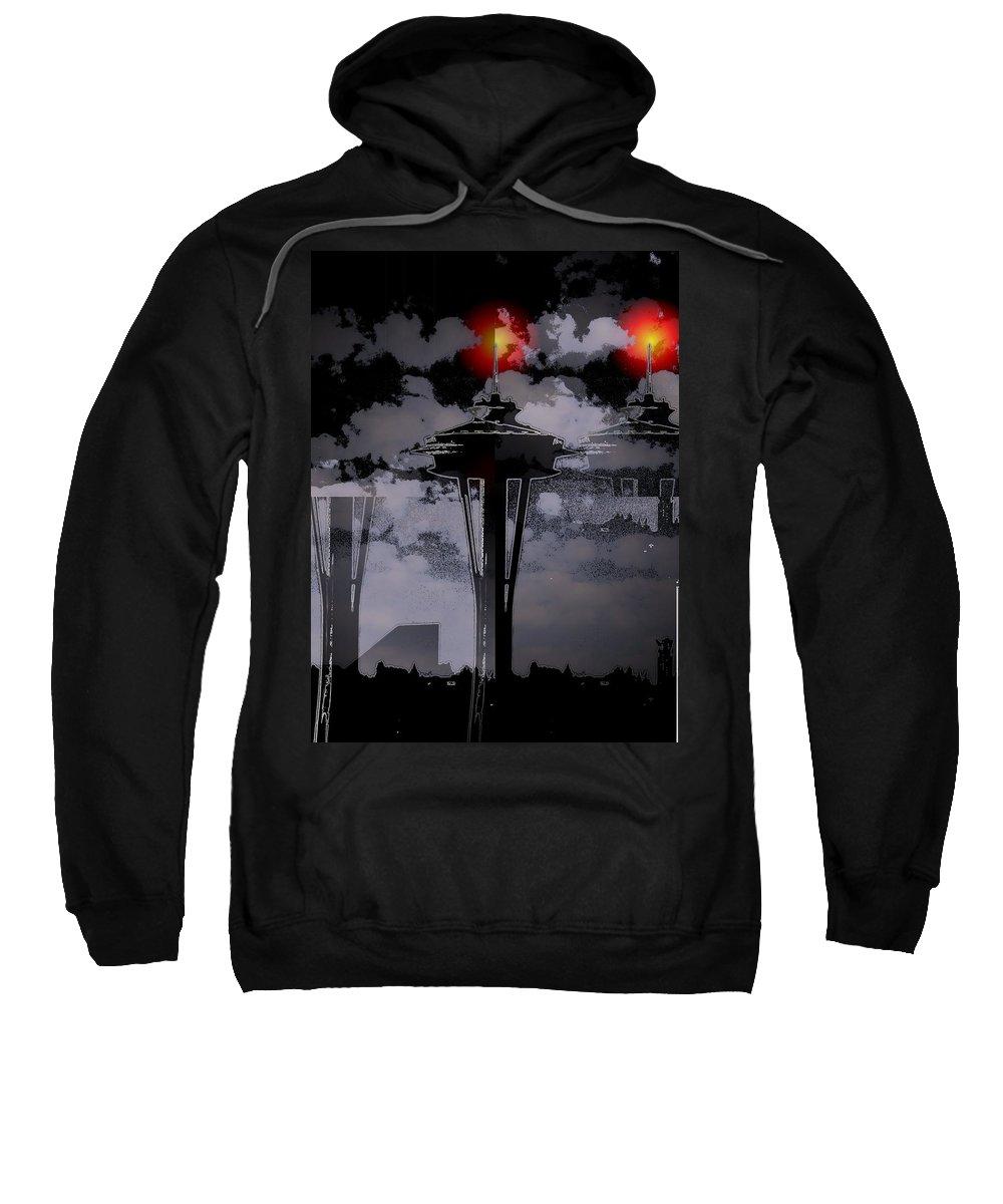 Seattle Sweatshirt featuring the digital art Needle In Flux by Tim Allen