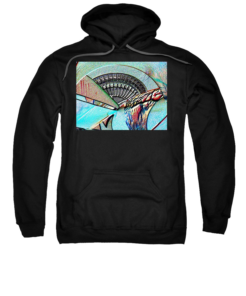 Seattle Sweatshirt featuring the digital art Needle Tubes by Tim Allen