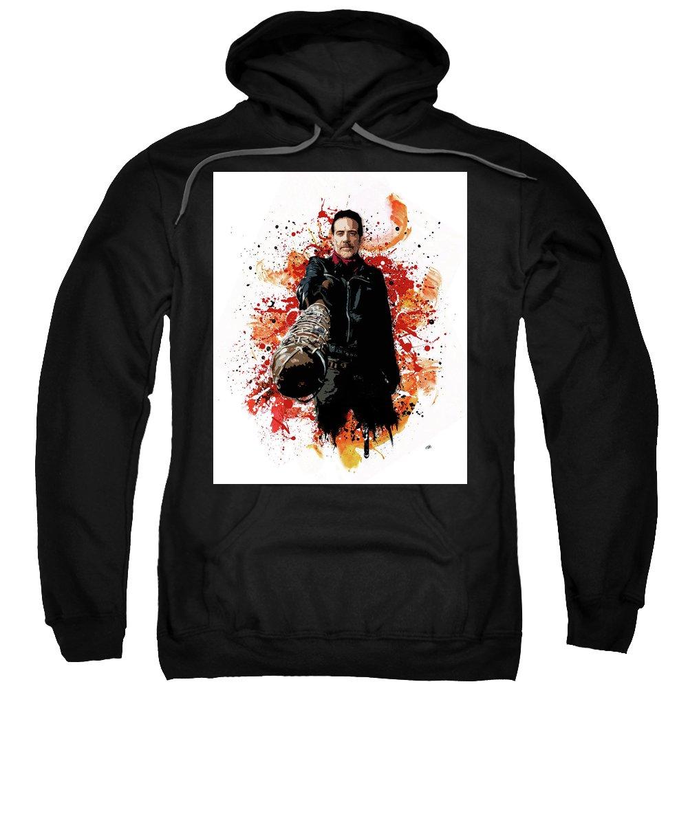 Walking Dead Sweatshirt featuring the digital art Negan by Laurence Adamson
