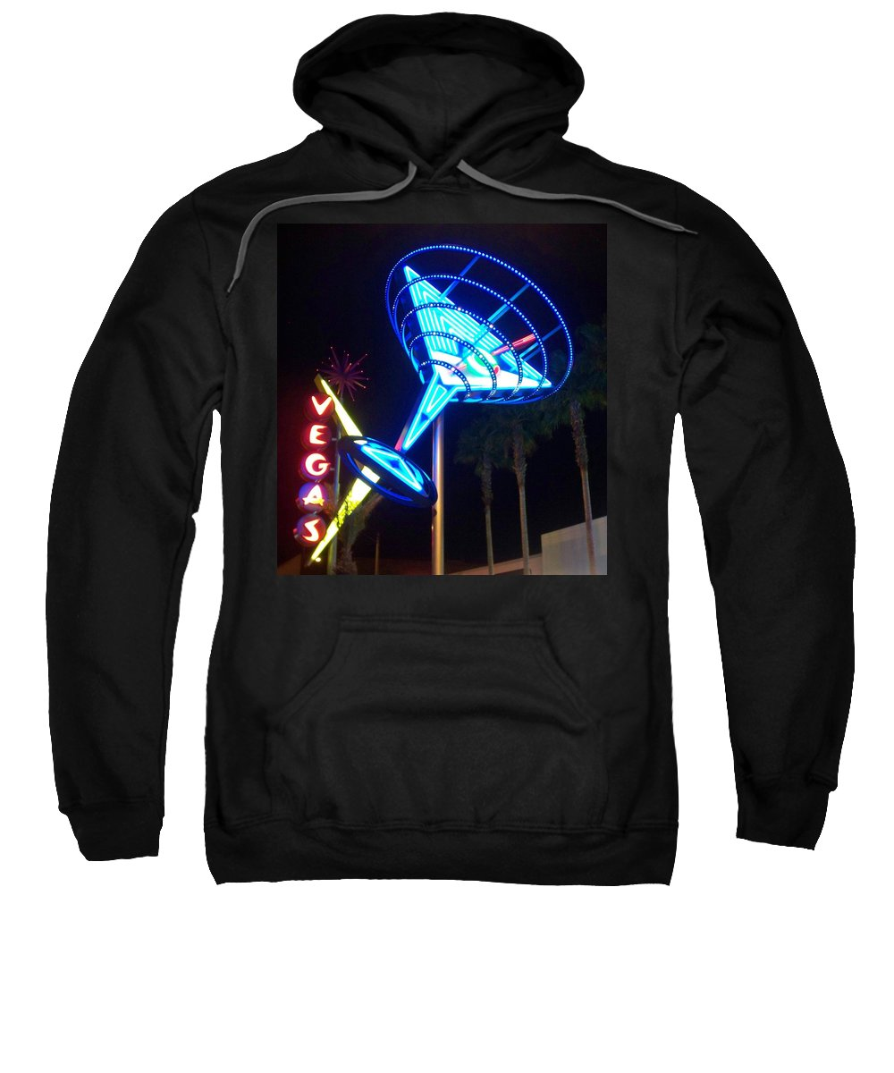 Vegas Sweatshirt featuring the photograph Neon Signs 1 by Anita Burgermeister