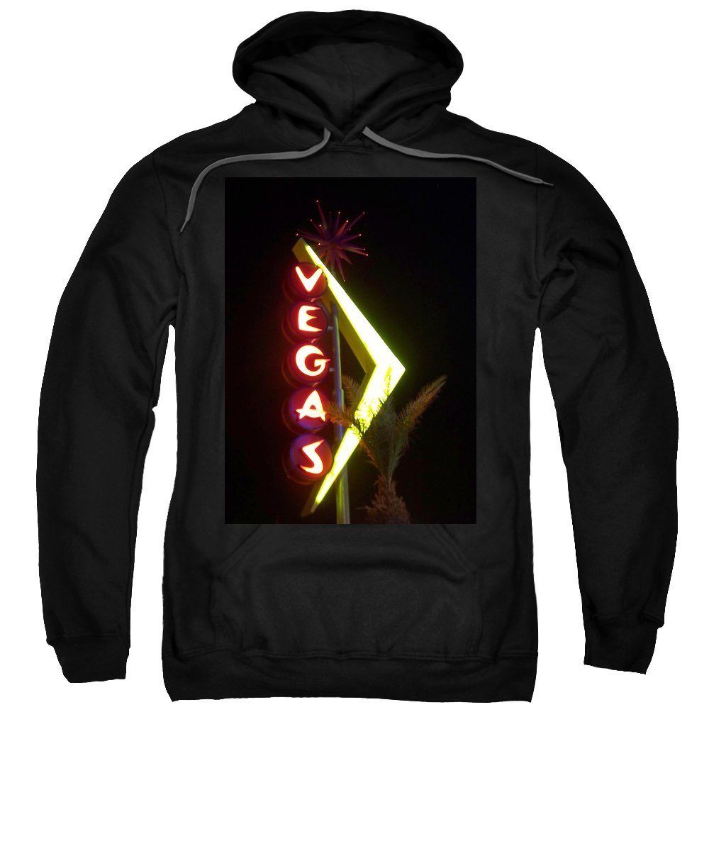 Fremont East Sweatshirt featuring the photograph Neon Signs 2 by Anita Burgermeister