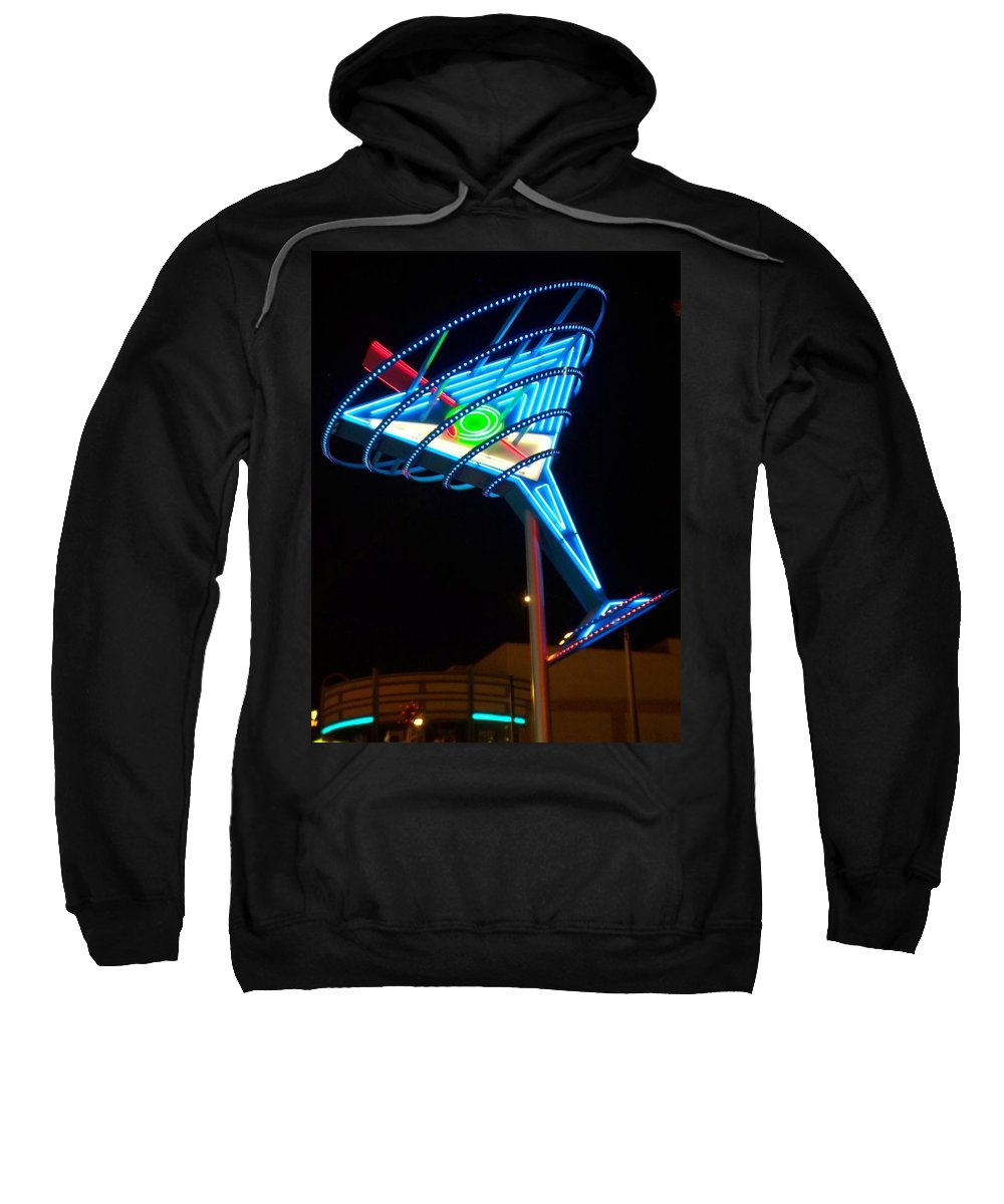Fremont East Sweatshirt featuring the photograph Neon Signs 4 by Anita Burgermeister