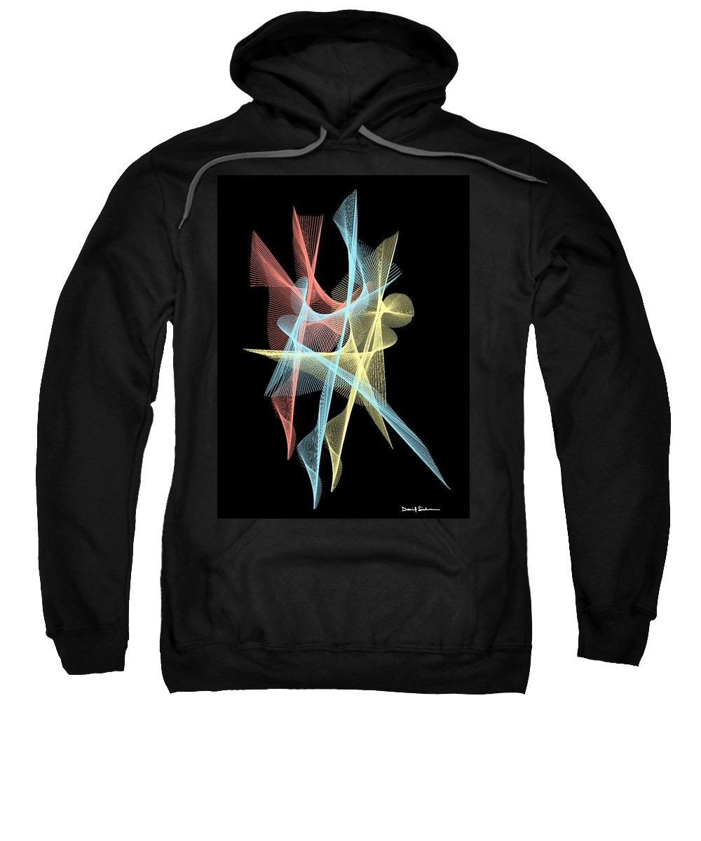 Minimal Sweatshirt featuring the digital art Net Fusion by Dan Sisken
