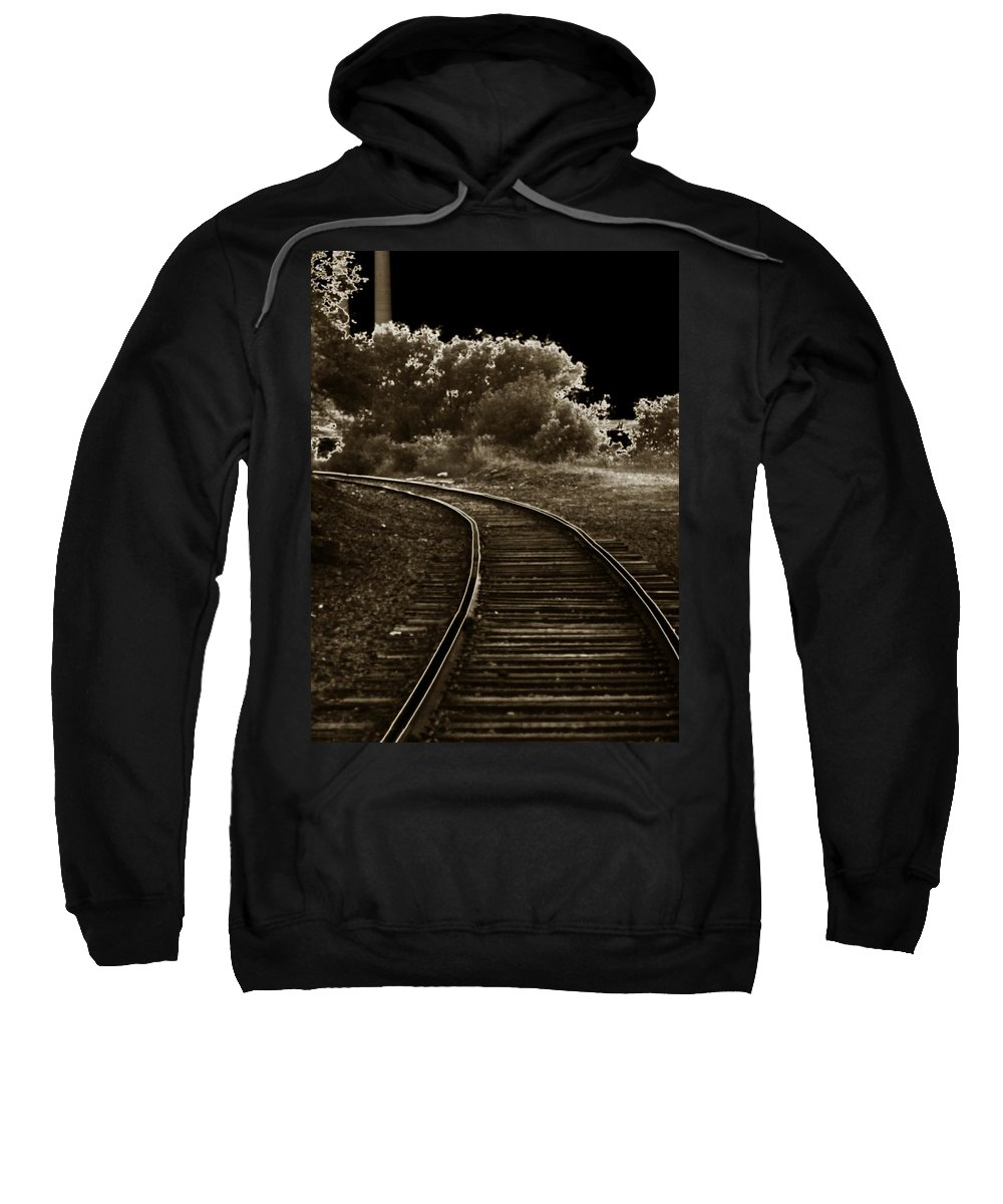 Outside Sweatshirt featuring the photograph Never A Straight Path by Charleen Treasures