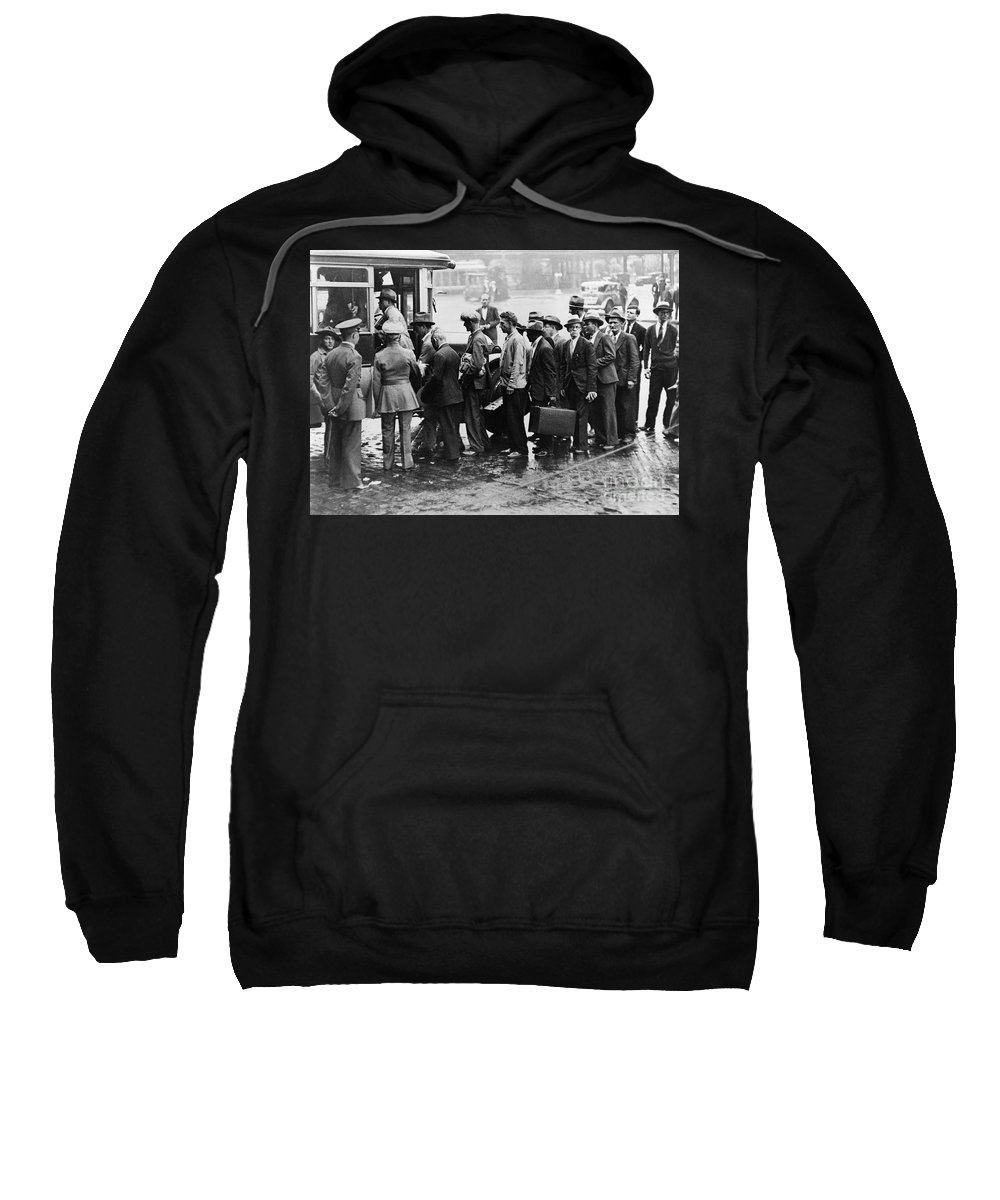 1933 Sweatshirt featuring the photograph New Deal: C.c.c. Camp by Granger