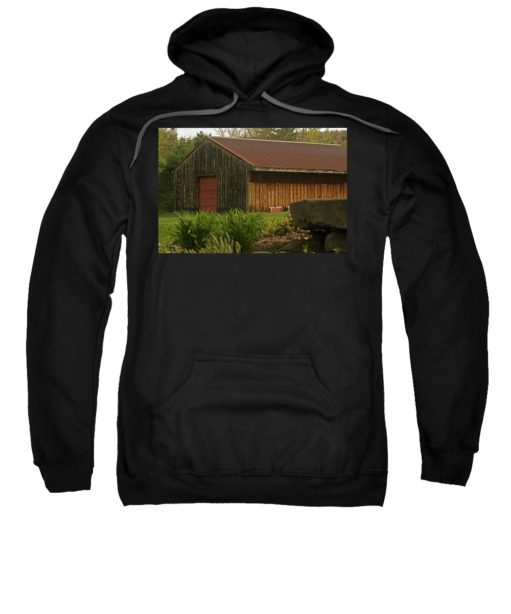 new England Sweatshirt featuring the photograph New England Barn by Paul Mangold