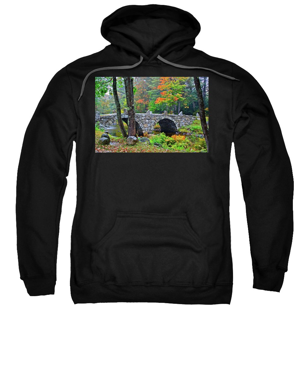 Bridge Sweatshirt featuring the photograph New Hampshire Bridge by Diana Hatcher