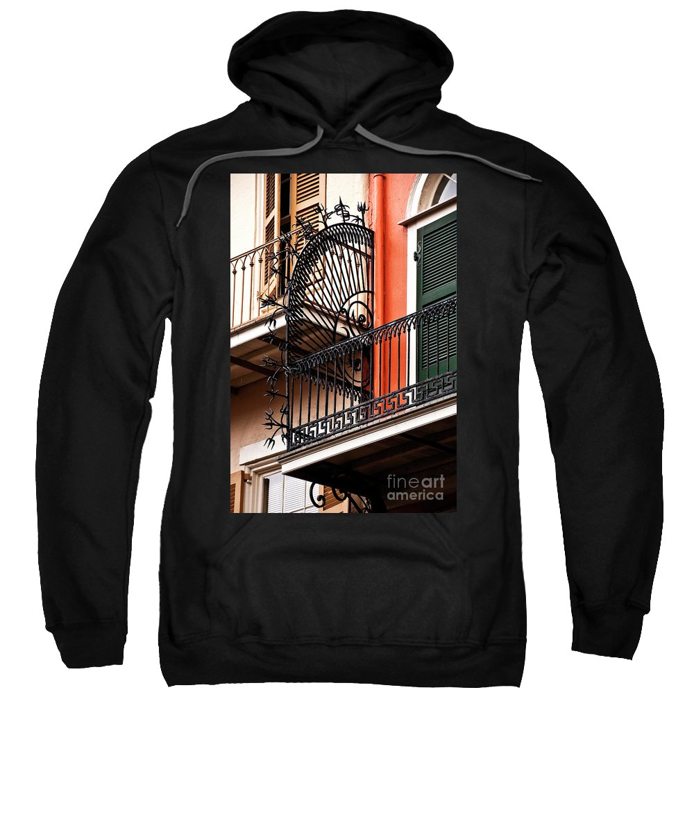 Balcony Sweatshirt featuring the photograph New Orleans Balcony by Kathleen K Parker