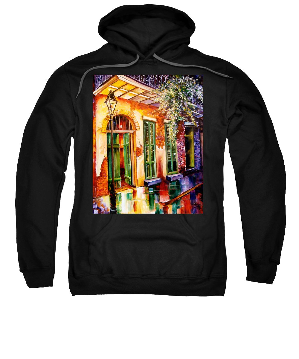 New Orleans Sweatshirt featuring the painting New Orleans Mystery by Diane Millsap