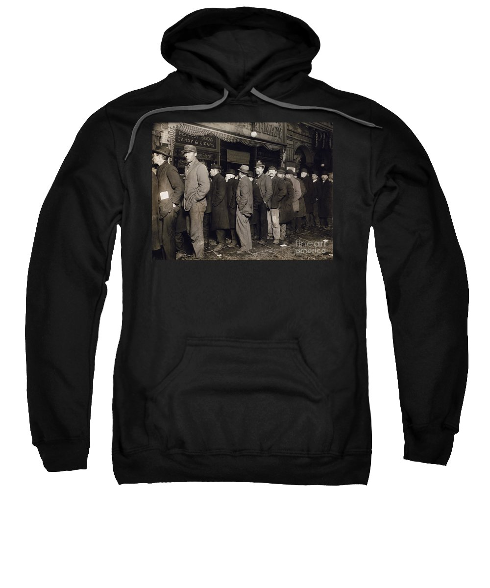 1907 Sweatshirt featuring the photograph New York: Bread Line, 1907 by Granger