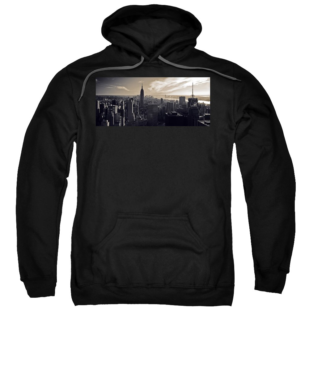 New York Sweatshirt featuring the photograph New York by Dave Bowman