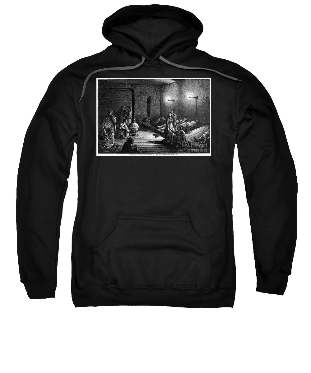 American Sweatshirt featuring the photograph New York: Homeless, 1873 by Granger