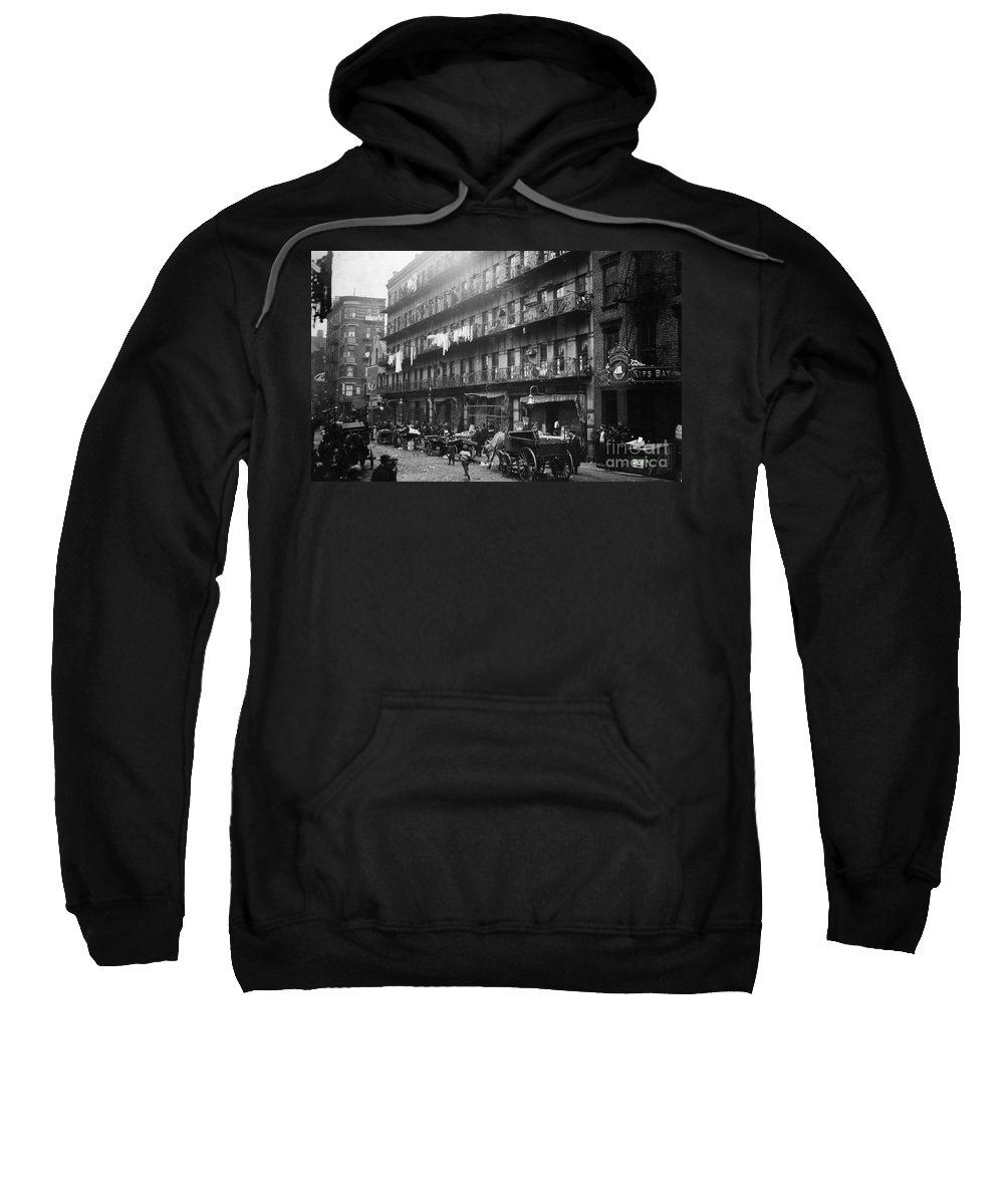 1912 Sweatshirt featuring the photograph New York: Tenements, 1912 by Granger