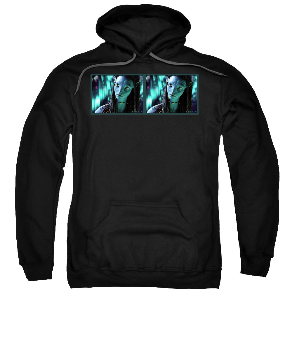3d Sweatshirt featuring the photograph Neytiri - Gently Cross Your Eyes And Focus On The Middle Image by Brian Wallace