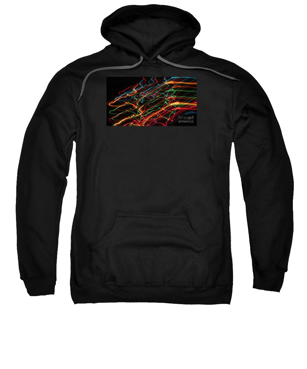 Neon Sweatshirt featuring the photograph Night At The Races by Cassandra Geernaert