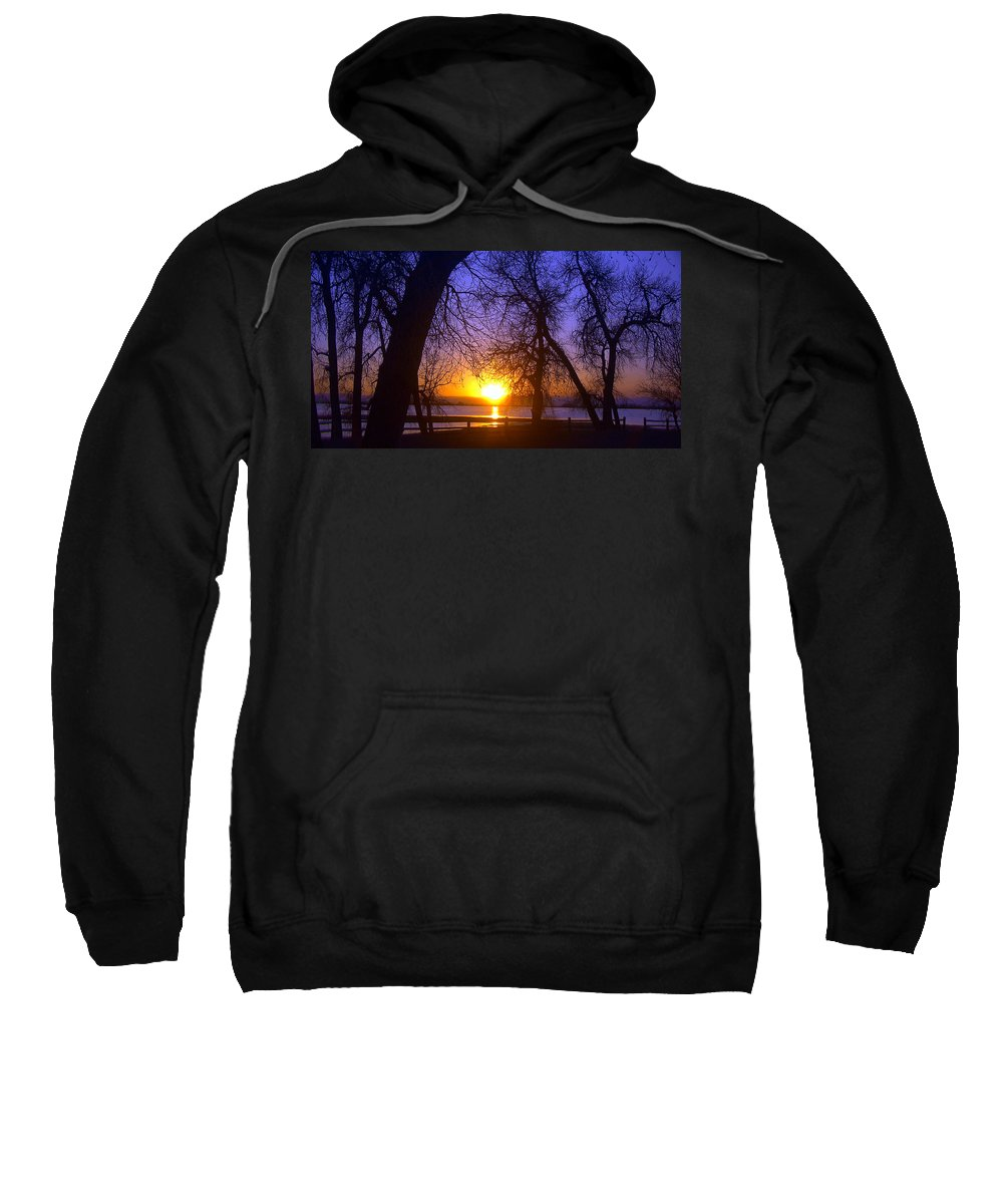 Barr Lake Sweatshirt featuring the photograph Night In Barr Lake Colorado by Merja Waters