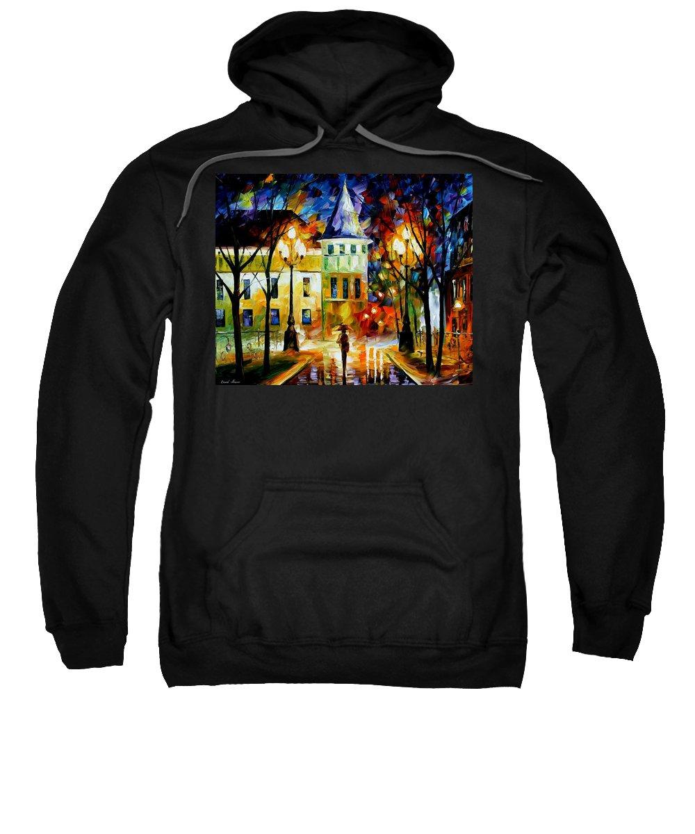 Afremov Sweatshirt featuring the painting Night Magic by Leonid Afremov