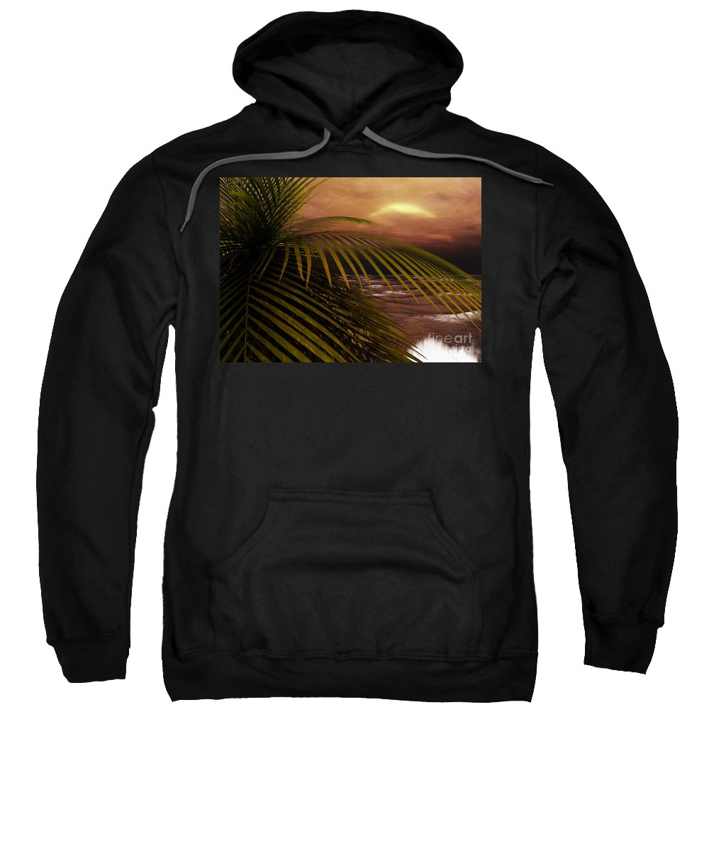 Tropical Sweatshirt featuring the digital art Night Moves by Richard Rizzo