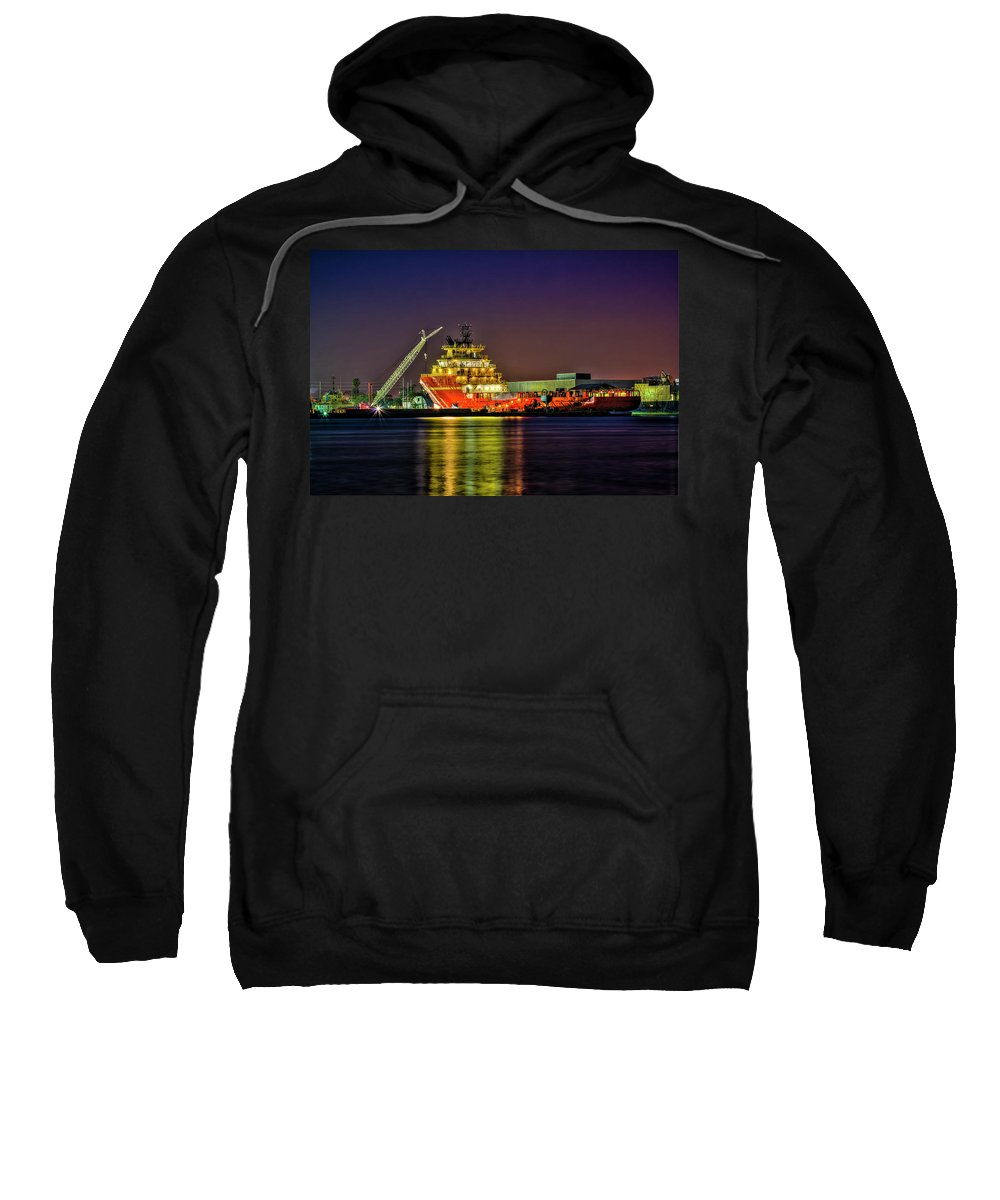 Cove Sweatshirt featuring the photograph Night Overhaul by Marvin Spates