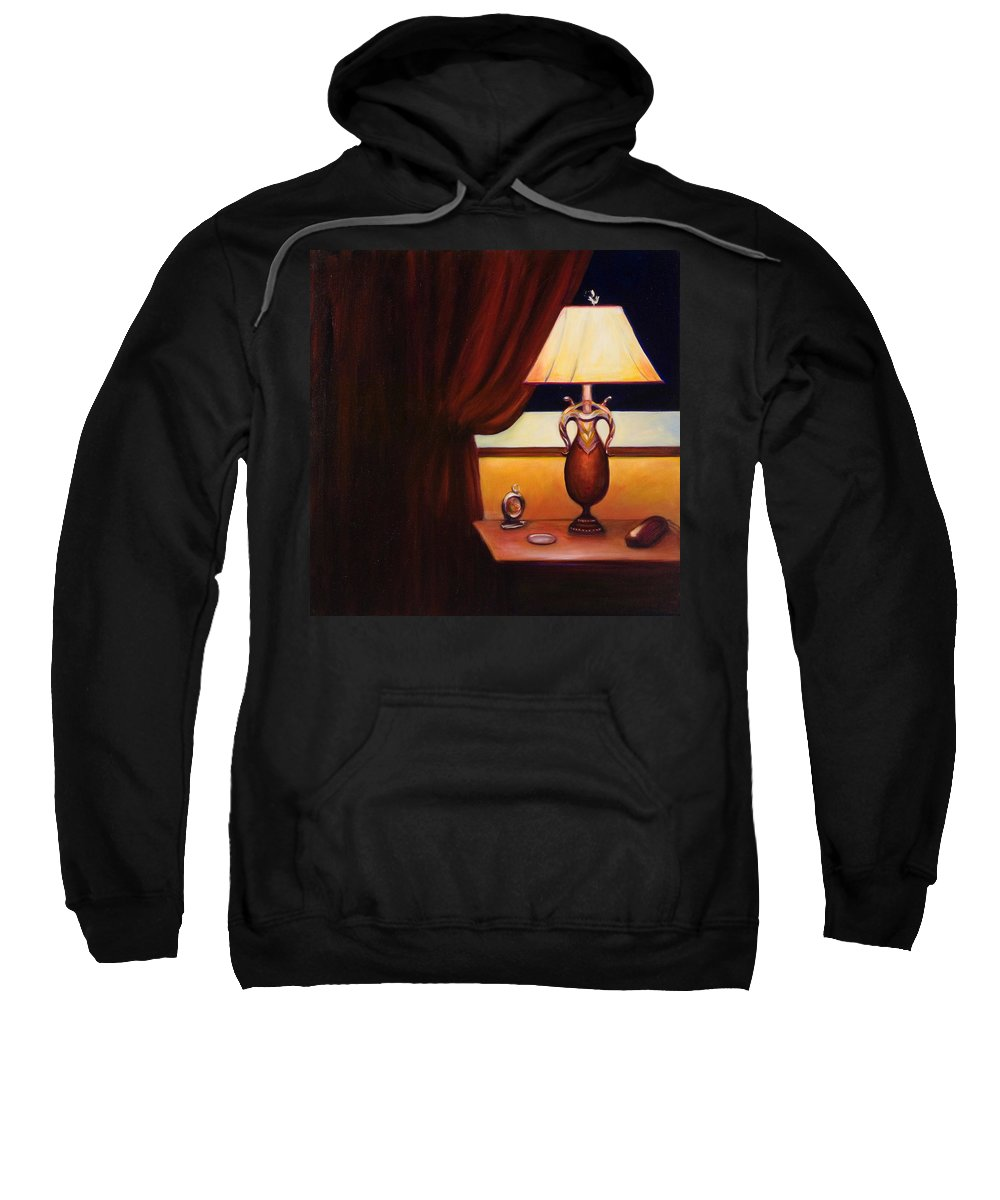 Still Life Red Sweatshirt featuring the painting Night by Shannon Grissom