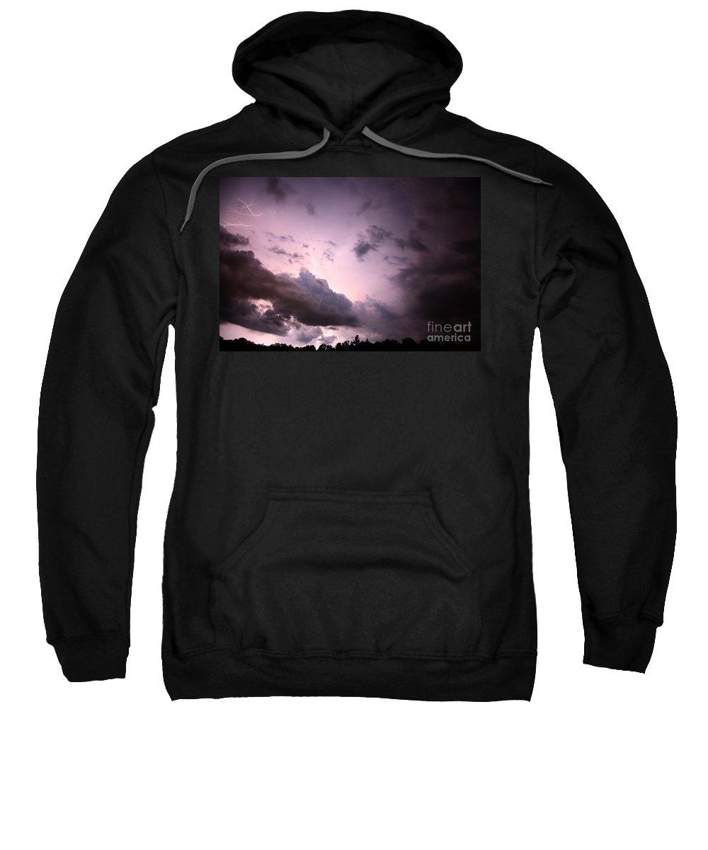 Lightning Sweatshirt featuring the photograph Night Storm by Amanda Barcon