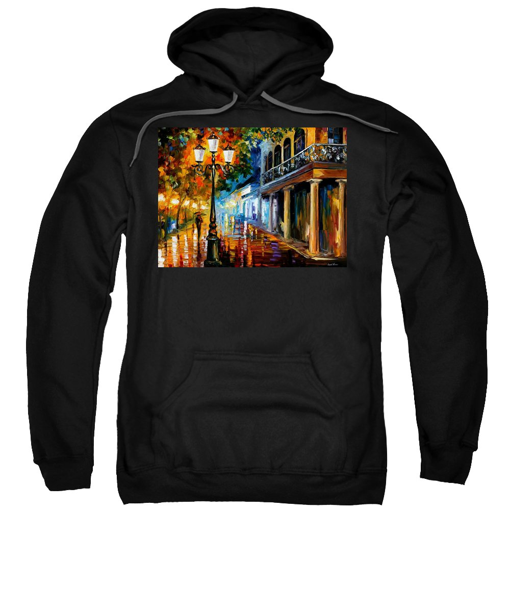Afremov Sweatshirt featuring the painting Night Transformation by Leonid Afremov