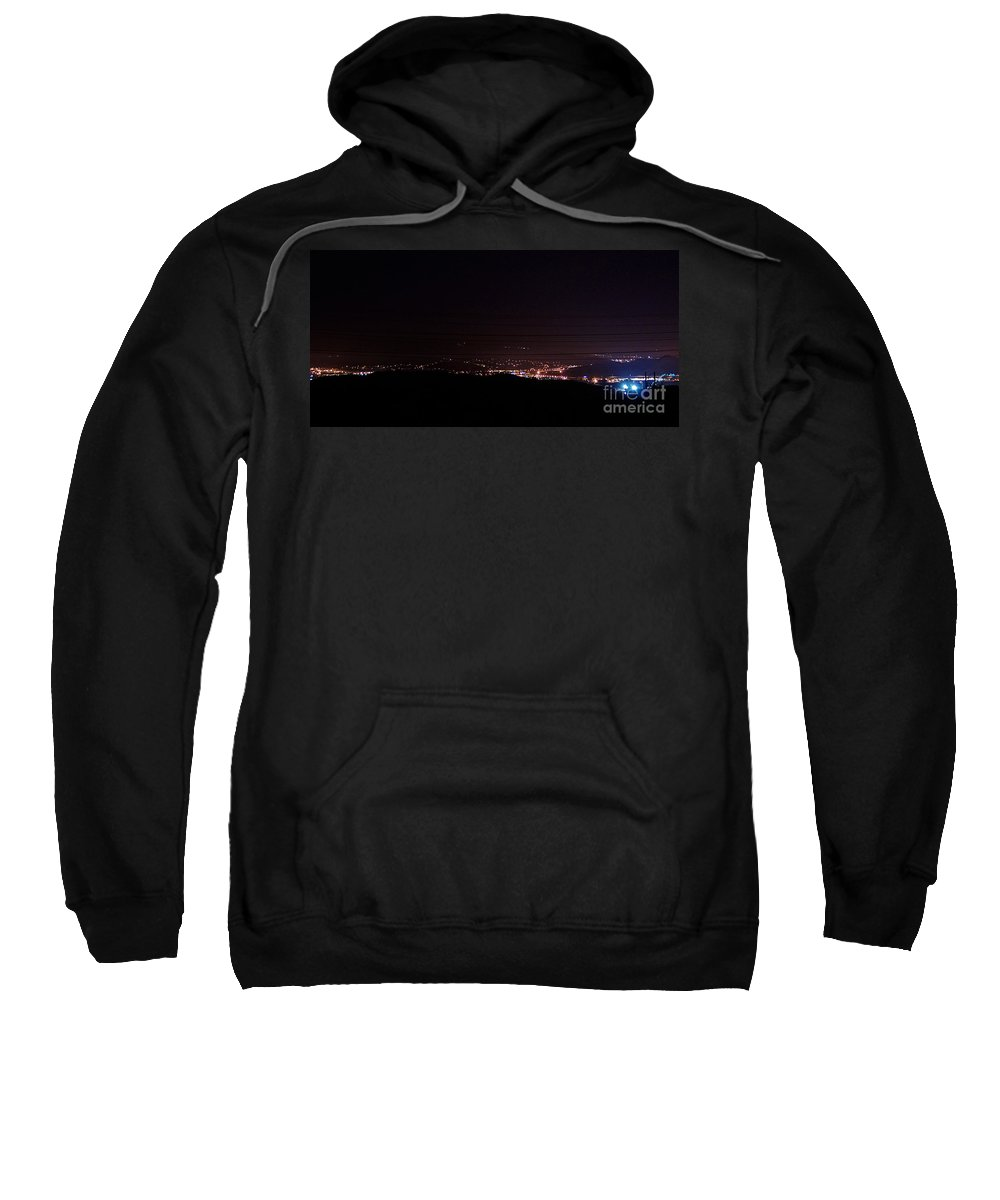 Clay Sweatshirt featuring the photograph Nights In The Valley by Clayton Bruster