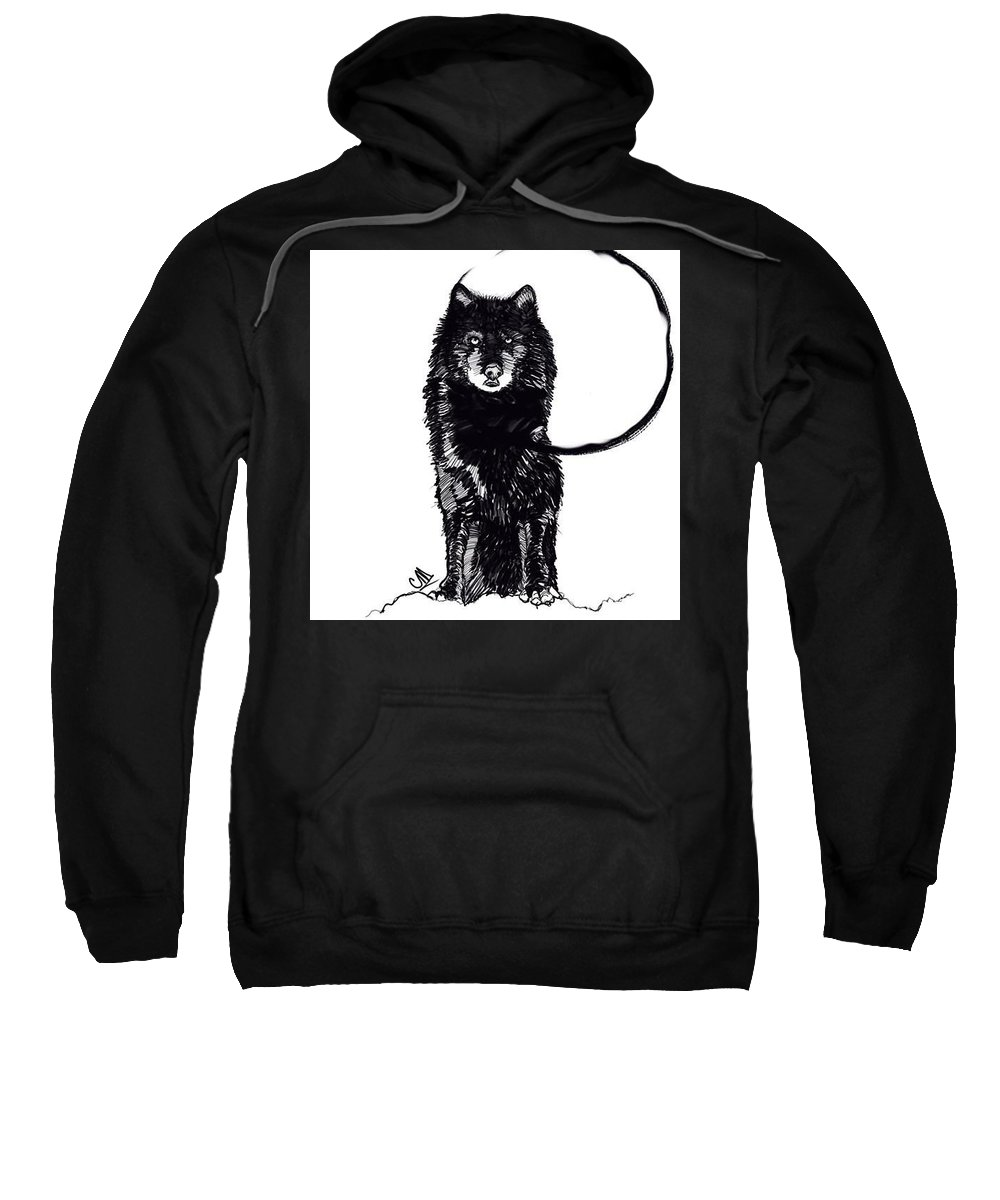 Digital Line Art Sweatshirt featuring the digital art Nighttime by Carrley Mason