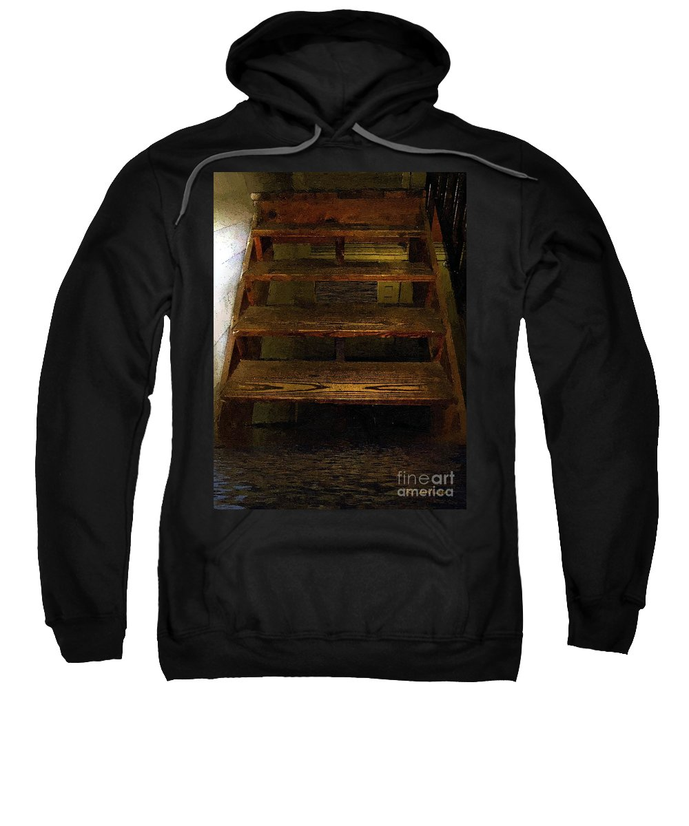Dark Sweatshirt featuring the painting No Exit by RC DeWinter