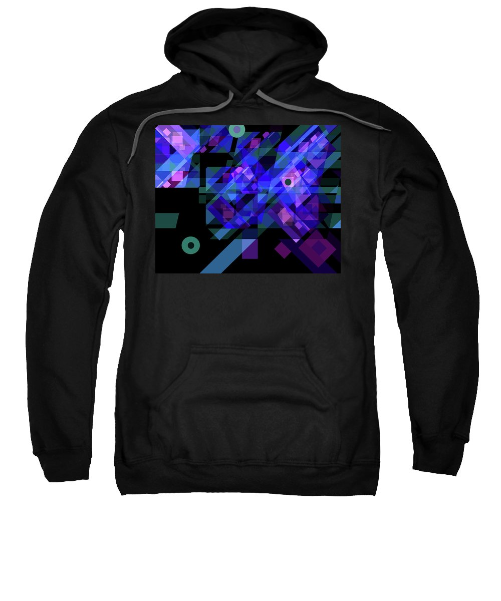 Abstract Sweatshirt featuring the drawing No Illusions by Lynda Lehmann
