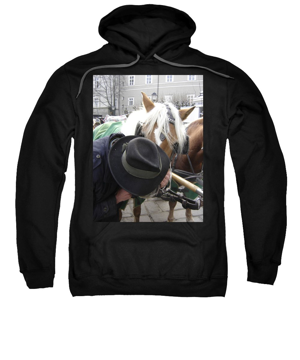 Man Sweatshirt featuring the photograph No Secrets by Mary Rogers