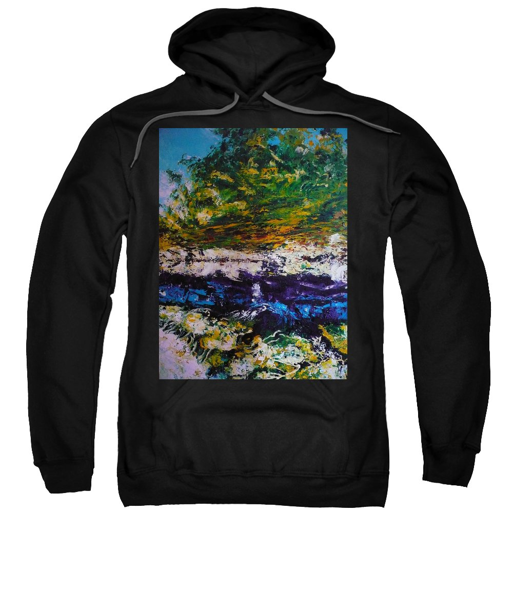 Reflection Sweatshirt featuring the painting No Title by Ericka Herazo