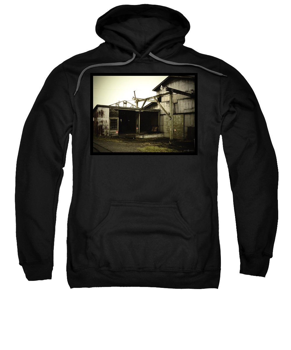 Warehouse Sweatshirt featuring the photograph No Trespassing by Tim Nyberg