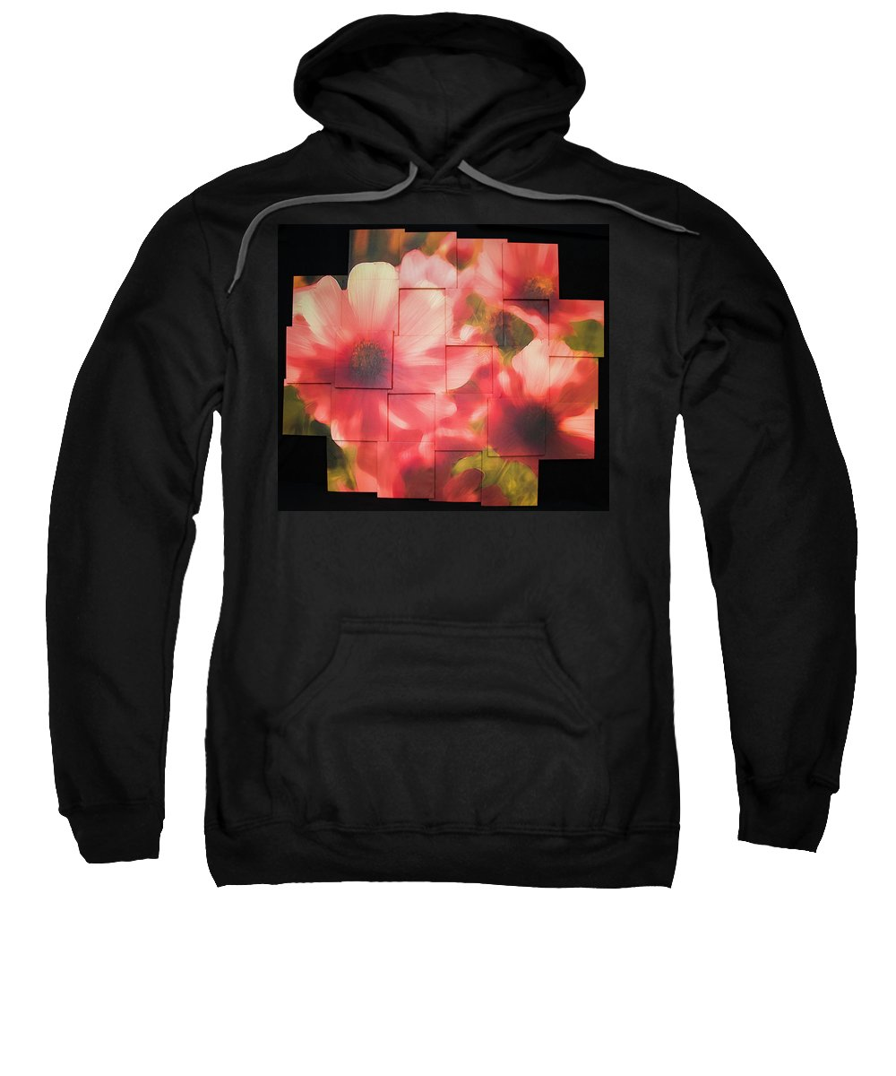 Flower Sweatshirt featuring the sculpture Nocturnal Pinks Photo Sculpture by Michael Bessler